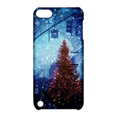 Elegant Winter Snow Flakes Gate Of Victory Paris France Apple Ipod Touch 5 Hardshell Case With Stand by chicelegantboutique