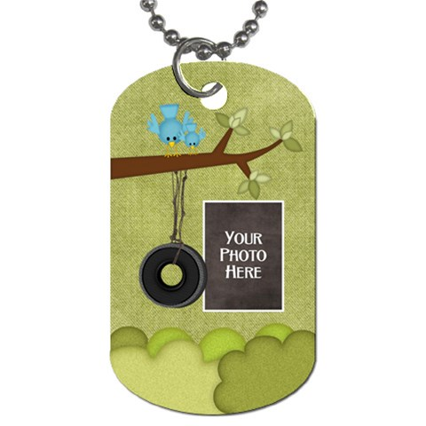 At The Park 1 Sided Dog Tag 3 By Lisa Minor   Dog Tag (one Side)   K0v8e5azzz8c   Www Artscow Com Front