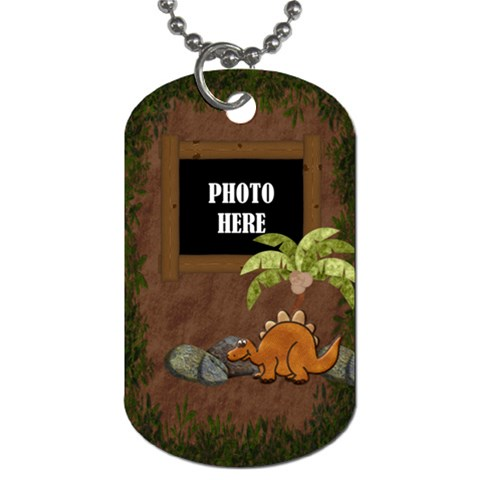 Prehistoric 1 Sided Dog Tag 1 By Lisa Minor   Dog Tag (one Side)   Tgfi00wnhbo5   Www Artscow Com Front
