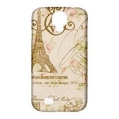 Floral Eiffel Tower Vintage French Paris Art Samsung Galaxy S4 Classic Hardshell Case (pc+silicone) by chicelegantboutique