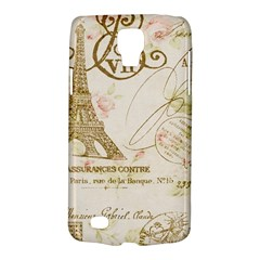 Floral Eiffel Tower Vintage French Paris Art Samsung Galaxy S4 Active (i9295) Hardshell Case by chicelegantboutique