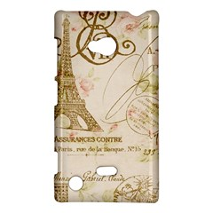 Floral Eiffel Tower Vintage French Paris Art Nokia Lumia 720 Hardshell Case by chicelegantboutique