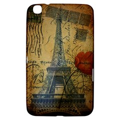 Vintage Stamps Postage Poppy Flower Floral Eiffel Tower Vintage Paris Samsung Galaxy Tab 3 (8 ) T3100 Hardshell Case  by chicelegantboutique