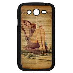 Vintage Newspaper Print Pin Up Girl Paris Eiffel Tower Samsung I9082(galaxy Grand Duos)(black) by chicelegantboutique