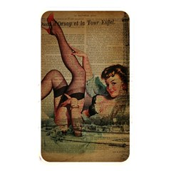 Vintage Newspaper Print Sexy Hot Pin Up Girl Paris Eiffel Tower Memory Card Reader (rectangular) by chicelegantboutique