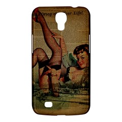 Vintage Newspaper Print Sexy Hot Pin Up Girl Paris Eiffel Tower Samsung Galaxy Mega 6 3  I9200 by chicelegantboutique