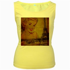 Yellow Dress Blonde Beauty   Womens  Tank Top (yellow) by chicelegantboutique
