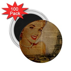 Yellow Dress Blonde Beauty   2 25  Button Magnet (100 Pack) by chicelegantboutique