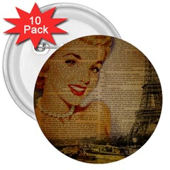 Yellow Dress Blonde Beauty   3  Button (10 Pack) by chicelegantboutique