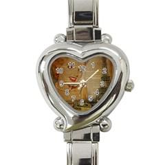 Yellow Dress Blonde Beauty   Heart Italian Charm Watch  by chicelegantboutique