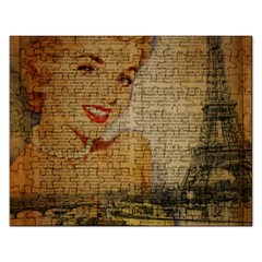 Yellow Dress Blonde Beauty   Jigsaw Puzzle (rectangle) by chicelegantboutique