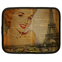 Yellow Dress Blonde Beauty   Netbook Case (large) by chicelegantboutique