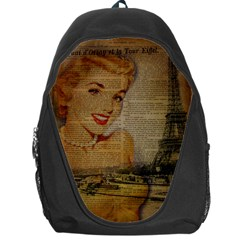 Yellow Dress Blonde Beauty   Backpack Bag