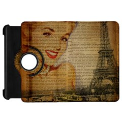 Yellow Dress Blonde Beauty   Kindle Fire Hd 7  Flip 360 Case by chicelegantboutique