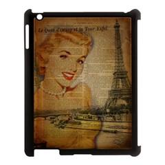 Yellow Dress Blonde Beauty   Apple Ipad 3/4 Case (black) by chicelegantboutique
