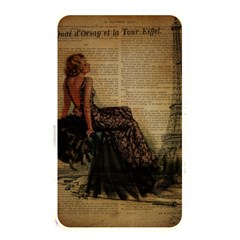 Elegant Evening Gown Lady Vintage Newspaper Print Pin Up Girl Paris Eiffel Tower Memory Card Reader (rectangular) by chicelegantboutique