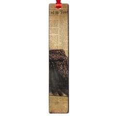Elegant Evening Gown Lady Vintage Newspaper Print Pin Up Girl Paris Eiffel Tower Large Bookmark by chicelegantboutique