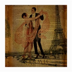 Vintage Paris Eiffel Tower Elegant Dancing Waltz Dance Couple  Glasses Cloth (medium) by chicelegantboutique
