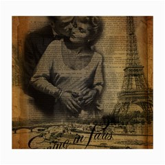 Romantic Kissing Couple Love Vintage Paris Eiffel Tower Canvas 16  X 20  (unframed) by chicelegantboutique
