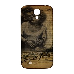 Romantic Kissing Couple Love Vintage Paris Eiffel Tower Samsung Galaxy S4 I9500/i9505  Hardshell Back Case by chicelegantboutique
