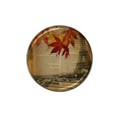 Elegant Fall Autumn Leaves Vintage Paris Eiffel Tower Landscape Golf Ball Marker (for Hat Clip) by chicelegantboutique