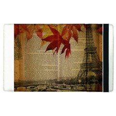 Elegant Fall Autumn Leaves Vintage Paris Eiffel Tower Landscape Apple Ipad 3/4 Flip Case by chicelegantboutique