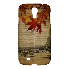 Elegant Fall Autumn Leaves Vintage Paris Eiffel Tower Landscape Samsung Galaxy S4 I9500/i9505 Hardshell Case by chicelegantboutique