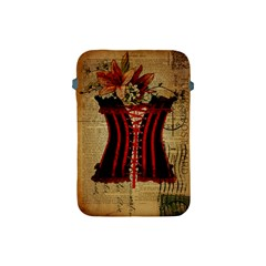 Black Red Corset Vintage Lily Floral Shabby Chic French Art Apple Ipad Mini Protective Soft Case by chicelegantboutique