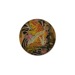 Funky Japanese Tattoo Koi Fish Graphic Art Golf Ball Marker by chicelegantboutique