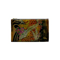 Funky Japanese Tattoo Koi Fish Graphic Art Cosmetic Bag (Small) by chicelegantboutique