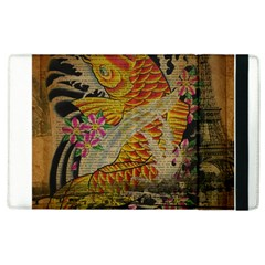 Funky Japanese Tattoo Koi Fish Graphic Art Apple Ipad 3/4 Flip Case by chicelegantboutique