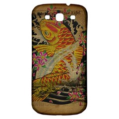 Funky Japanese Tattoo Koi Fish Graphic Art Samsung Galaxy S3 S Iii Classic Hardshell Back Case by chicelegantboutique