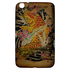 Funky Japanese Tattoo Koi Fish Graphic Art Samsung Galaxy Tab 3 (8 ) T3100 Hardshell Case  by chicelegantboutique