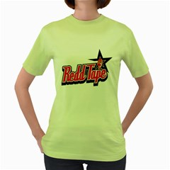 Redd Tape Womens  T-shirt (Green) by Contest1703156