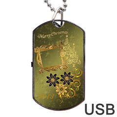 Merry Christmas 2013 Dog Tag Usb Flash 2 Sides By Ellan   Dog Tag Usb Flash (two Sides)   Q22n3i414sub   Www Artscow Com Front