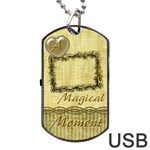 Magical Moment Dog Tag usb Flash 2 sides - Dog Tag USB Flash (Two Sides)