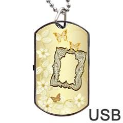 Gold Wedding Lace Dog Tag Usb Flash 2 Sides By Ellan   Dog Tag Usb Flash (two Sides)   Ie52zb4iyj4q   Www Artscow Com Back