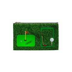 Golf Small Cosmetic Bag By Joy Johns   Cosmetic Bag (small)   Z5sjkawiug3x   Www Artscow Com Front