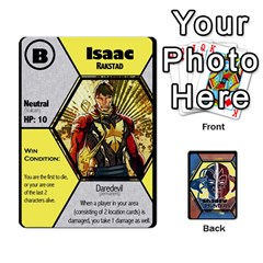 Shadow Hunters / X Men Re Theme (bill s Wedding) By Ajax   Playing Cards 54 Designs   Ky9a8659osmz   Www Artscow Com Front - Spade6