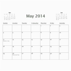 Miller Calendar For 2014 By Anna   Wall Calendar 11  X 8 5  (12 Months)   Wr6ikmco2gav   Www Artscow Com May 2014
