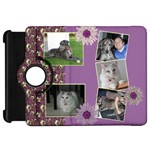Purple Kindle Fire HD 7  Flip 360 Case - Kindle Fire HD Flip 360 Case