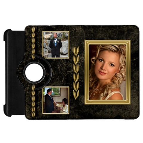 Black And Gold Marble Kindle Fire Hd 7  Flip 360 Case By Deborah   Kindle Fire Hd Flip 360 Case   Nb2h3yb19v90   Www Artscow Com Front