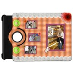 Orange Frill Kindle Fire HD 7  Flip 360 Case - Kindle Fire HD Flip 360 Case