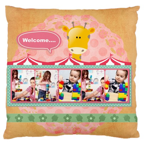 Kids By Kids   Large Cushion Case (one Side)   6vpkhw5djtd6   Www Artscow Com Front