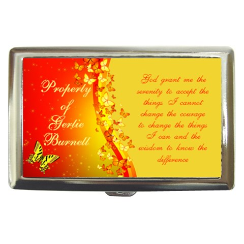 Serenity Prayer Cigarette Money Case By Kim Blair   Cigarette Money Case   Ja0yhzymylkr   Www Artscow Com Front
