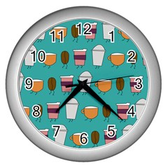 Time For Coffee Wall Clock (silver) by PaolAllen