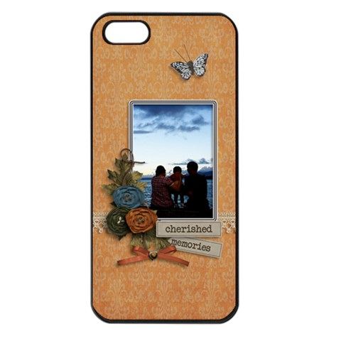 Apple Iphone 5    Cherished Memories By Jennyl   Apple Iphone 5 Seamless Case (black)   Bbatg4p8yao7   Www Artscow Com Front