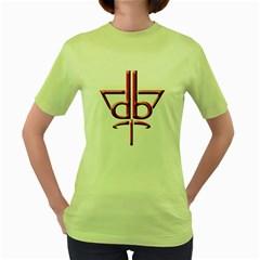 Design Bureau Womens  T Shirt (green) by Contest1736471