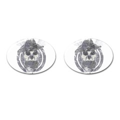 Skull  Cufflinks (oval) by roma1store