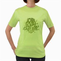 Join the Dark Side! Womens  T-shirt (Green) by Contest1732527